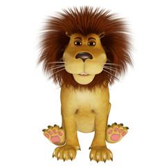 3d cartoon lion