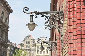Lamp Street in Budapest