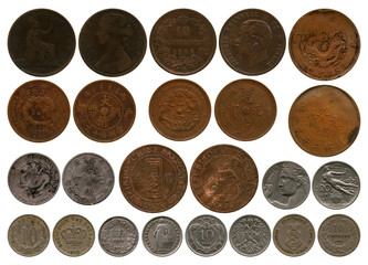 different coins of the period before first world war