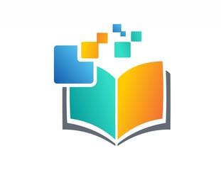 education logo,book, data, digital, notes, science technology