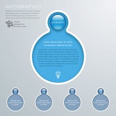 Infographics Background, White line Frame, Concept