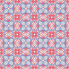 vintage blue and orange pattern