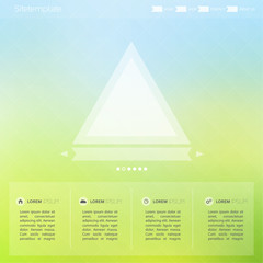 Bright interface for the Web and mobile site.