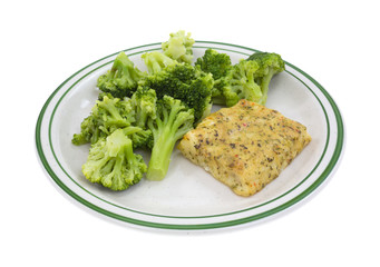 Pollock and broccoli meal
