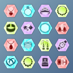Jewelry icon hexagon