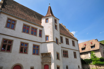 Bas Rhin, the picturesque village of  Andlau in Alsace