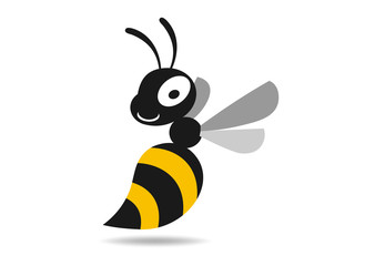 Bee marketing logo