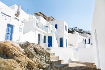 Griechische Häuser auf Serifos auf den Kykladen