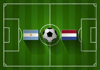 Fußball  Argentinien vs. Niederlande