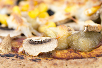 Vegetarian Pizza Close-up
