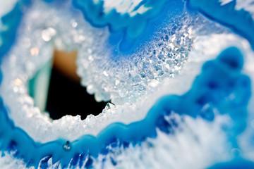 Blue stone lapis lazuli macro
