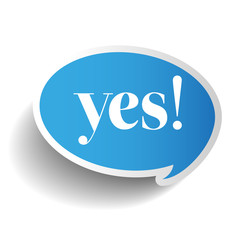 Yes symbol label vector