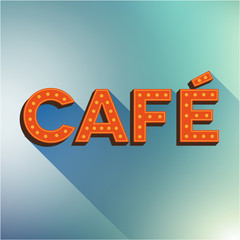 Cafe vector sign