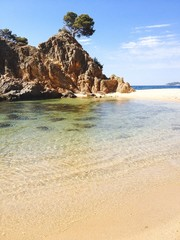 beach of costa brava. Summer time