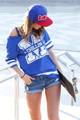 Beautiful girl at the skatepark