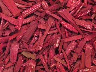 Rote Holzsplitter