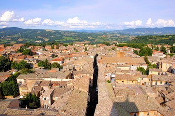 View over the old town of Orvieto, Italy