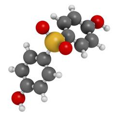 Bisphenol S (BPS) plasticizer molecule. Used as curing agent.