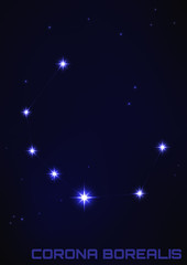 Corona Borealis constellation