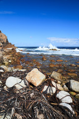 Coastline and high wave at Cape of Good Hope, Cape Town, South A