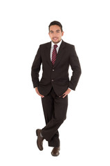 elegant hispanic man in a suit