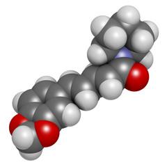 Piperine black pepper molecule.