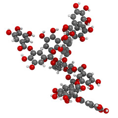 Tannic acid molecule (one isomer shown). Type of tannin.