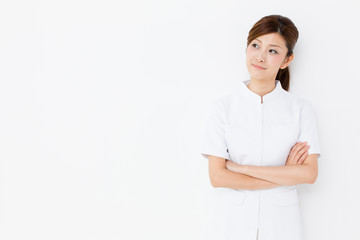 young asian nurse in the hospital