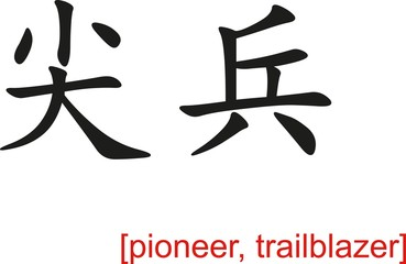 Chinese Sign for pioneer, trailblazer