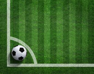Soccer football field stadium grass line ball background texture