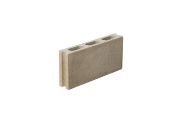 Cement brick isolated on white background for pattern