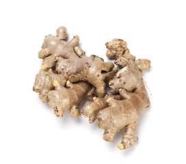 ginger root on white background
