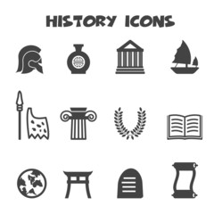 history icons