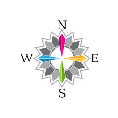Abstract Compass Rose image .Concept of navigation