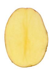 Half of Potato Isolated on White Background