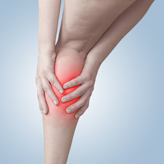 Acute pain in a woman calf.
