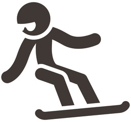 Winter sport icon - snowboard icon