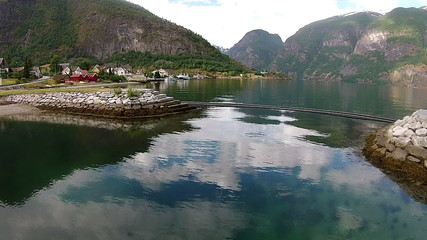 Aerial video from Aurland in Norway