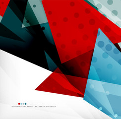 Futuristic shapes vector abstract background