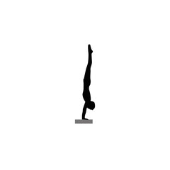 Black silhouettes of diving-vector