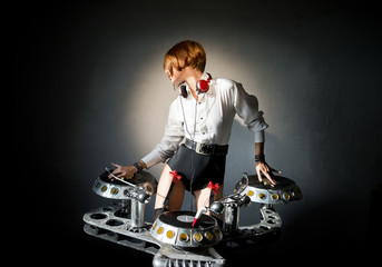 Disc jockey girl