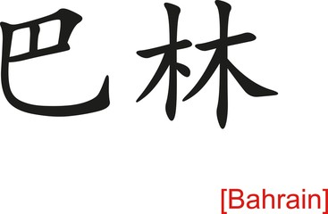 Chinese Sign for Bahrain