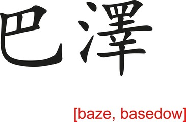 Chinese Sign for baze, basedow