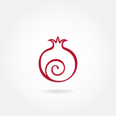 Pomegranate icon or symbol