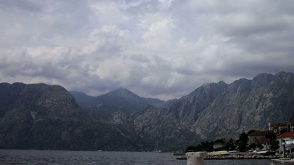 Kotor timelaps panorama  Bay of Kotor in Montenegro