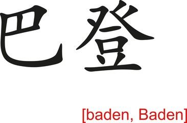 Chinese Sign for baden, Baden