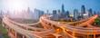 Leinwandbild Motiv Shanghai Verkehr