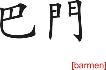 Chinese Sign for barmen