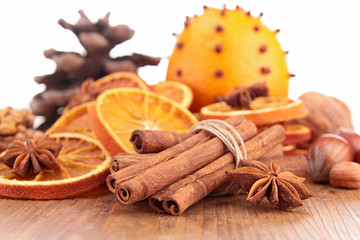 cinnamon,anise and orange
