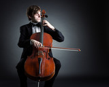 Fototapety Cellist playing classical music on cello